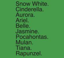Disney Princess Names Kids Clothes