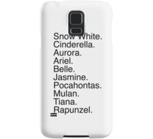 Disney Princess Names Samsung Galaxy Case/Skin