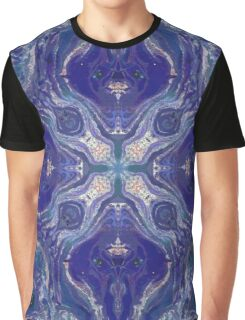 Purple Pattern Graphic T-Shirt