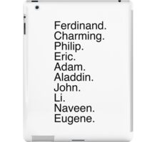Disney Princes Names iPad Case/Skin