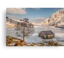 Frozen Lake Ogwen Canvas Print