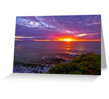 Sunset, Palos Verdes CA Greeting Card