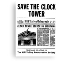 Save the Clocktower Canvas Print
