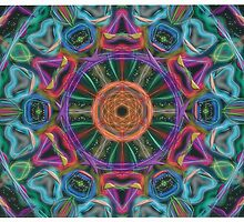 Random Psychedelic Kaleidoscope 1 by Jennifer Mosher