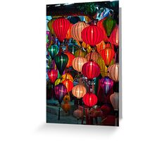 Vietnam. Hoi An. Old Town. Lanterns. Greeting Card