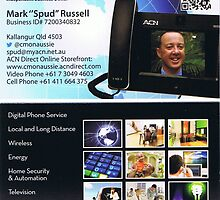My New Business Card by Mark 'Spud' Russell