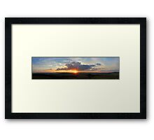 Panorama | Sunset from National Arboretum Framed Print