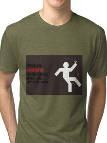 Arrow to the Knee, Still an Adventurer Tri-blend T-Shirt