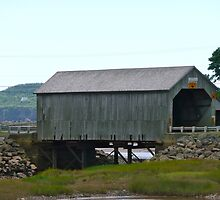 Old Grey Covered Bridge by Rachel Gagne