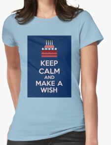 Keep Calm And Make A Wish Womens Fitted T-Shirt