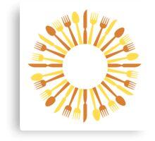 circular cutlery design Canvas Print