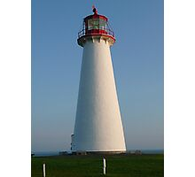 White and Red Lighthouse Photographic Print