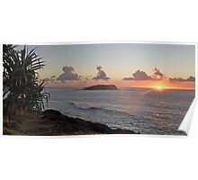 Sunrise Fingal Head Poster