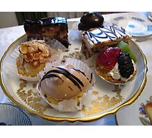 Cream cakes Photographic Print