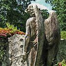 Grieving Angel in Prayer in the Garden by Jane Neill-Hancock