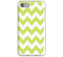 >>chic.chevron<< - lime&white iPhone Case/Skin