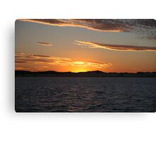 Golden Sky At Days End Canvas Print