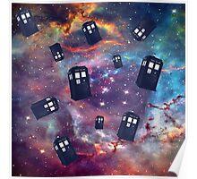 TARDIS Flying Poster