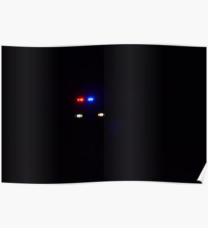 Police car at night Poster
