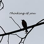 Thinking of You Greeting Card by Susan S. Kline