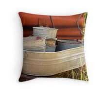 old wash tubs Throw Pillow
