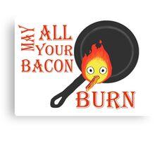 Bacon Burning Canvas Print