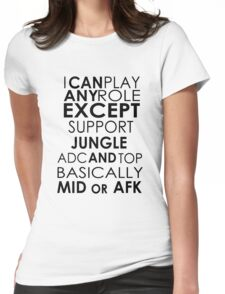 I Can Play Any Role Womens Fitted T-Shirt