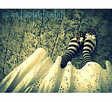 butterfly shoes Photographic Print
