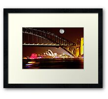 Full Moon Sydney Framed Print