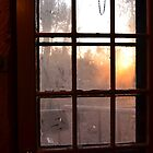 Dusty Window Sunset by farmbrough