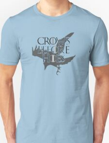 Crows Before Hoes black T-Shirt