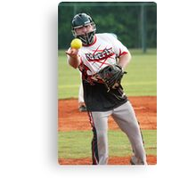 Softball's Darth Vader Canvas Print
