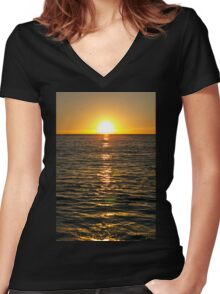 Malibu V Women's Fitted V-Neck T-Shirt