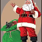 Santa with pipe and toy bag by TrioDesigns