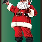 Santa with pipe, glasses and toy train by TrioDesigns