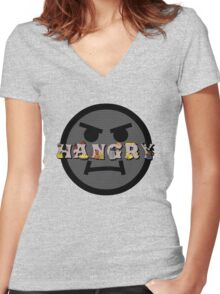 Hangry Women's Fitted V-Neck T-Shirt