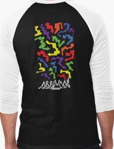 (Hoodie) Colourful Arrows Men's Baseball ¾ T-Shirt