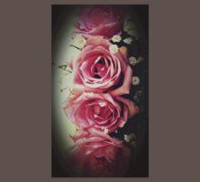 Beautiful Flowers Pink Roses Baby Tee