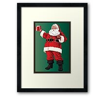 Santa with pipe and glasses Framed Print