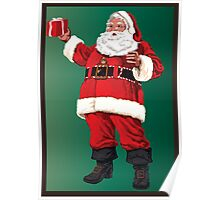 Santa with pipe and glasses Poster