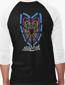 (Hoodie) Heart of Arrows  Men's Baseball ¾ T-Shirt
