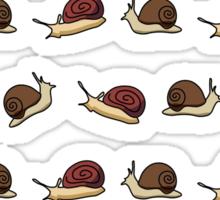 Cute Snail Cartoon Pattern Sticker