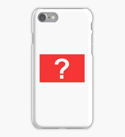 A simple question iPhone Case/Skin