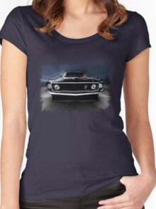 1969 FORD MUSTANG Women's Fitted Scoop T-Shirt