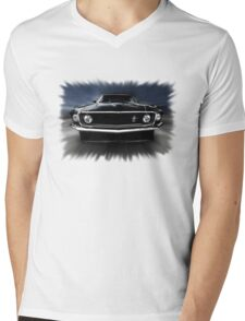 1969 FORD MUSTANG Mens V-Neck T-Shirt