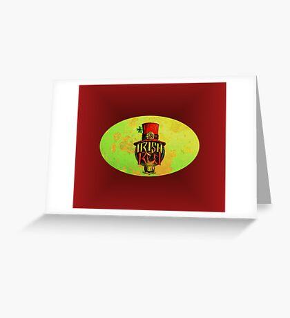 IRISH RED LABEL. Greeting Card