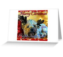 dog christmas card1 SQUARE Greeting Card