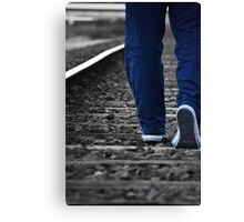 Walking The Line Canvas Print