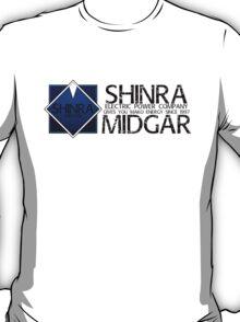 SHINRA ELECTRIC POWER COMPANY MAKO ENERGY MIDGAR T-Shirt