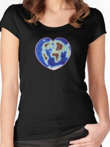Love Our Earth Women's Fitted Scoop T-Shirt